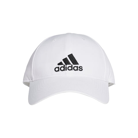 ADIDAS MEN'S 6 PANEL LIGHTWEIGHT CAP WHITE