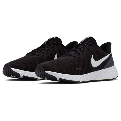 NIKE WOMEN'S REVOLUTION 5 RUNNING SHOE PURE BLACK/WHITE/ANTHRACITE