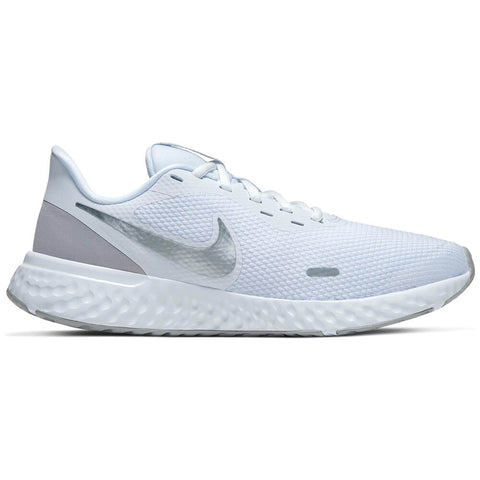 NIKE WOMEN'S REVOLUTION 5 RUNNING SHOE WHITE/WOLF GREY/PLATINUM