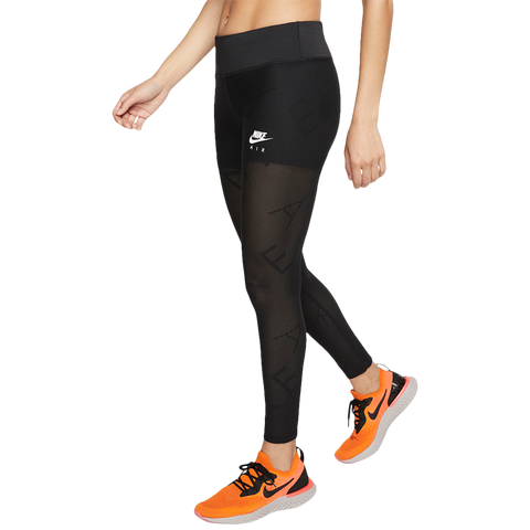 NIKE WOMEN'S 7/8 TIGHT AIR MESH BLACK/WHITE