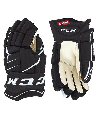 CCM JETSPEED FT350 SR HOCKEY GLOVES BLACK/WHITE