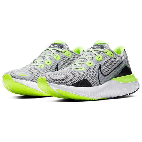 NIKE MEN'S RENEW RUN RUNNING SHOE FOG/BLACK/WHITE/VOLT