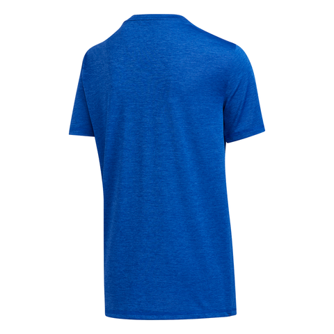 ADIDAS BOY'S PIXEL POLY TEE TEAM ROYAL BLUE