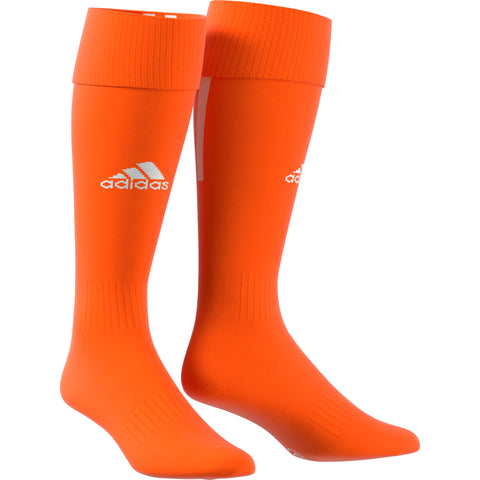 ADIDAS SANTOS 18 ORANGE LARGE SOCCER SOCK (9-10.5)