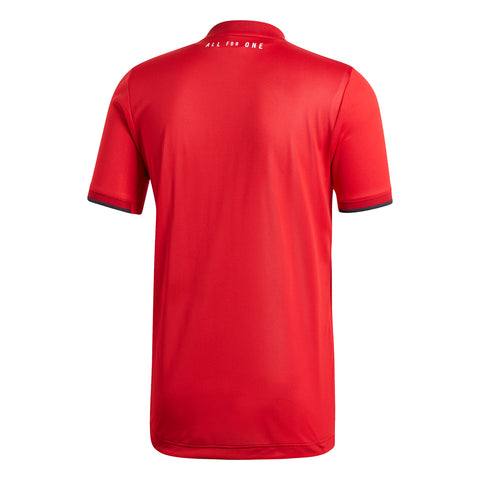 ADIDAS MEN'S TFC 7418 AUTHENTIC SHORT SLEEVE JERSEY RED