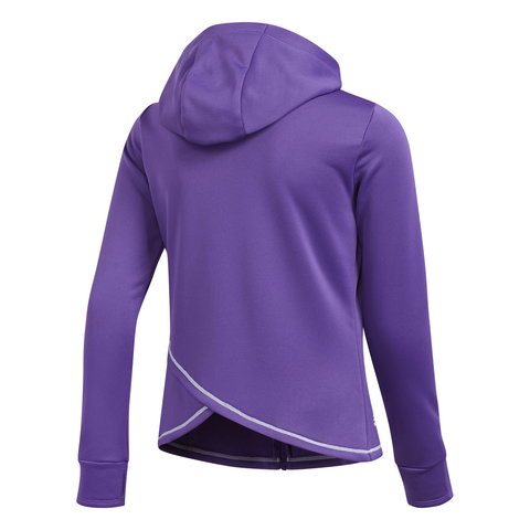 ADIDAS GIRLS FULL ZIP LAYER ACTIVE PURPLE