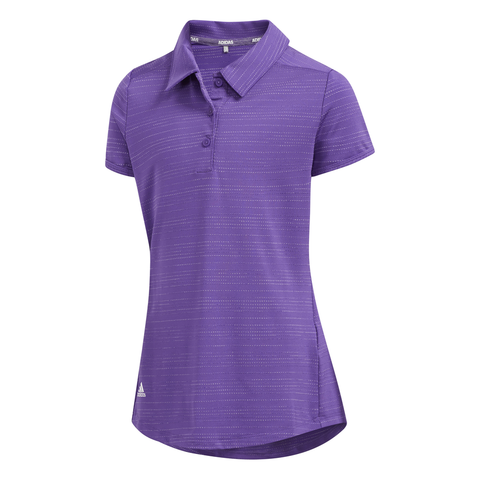 ADIDAS GIRLS NOVELTY SHORT SLEEVE POLO ACTIVE PURPLE