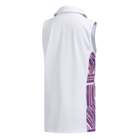 ADIDAS GIRLS NOVELTY SLEEVELESS POLO WHITE/PURPLE