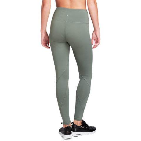 DANSKIN WOMENS HIGH WAISTED ANKLE LEGGING AGAVE GREEN