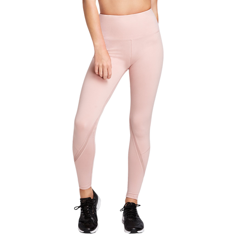 DANSKIN WOMENS HIGH WAISTED ANKLE LEGGING PALE MAUVE