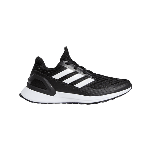 ADIDAS BOYS GRADE SCHOOL RAPIDA RUN FOUNDATION KIDS SHOE BLACK/WHITE/WHITE
