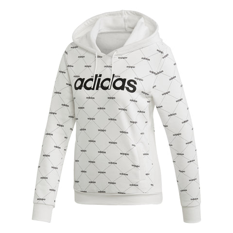 ADIDAS WOMEN'S CORE FAVE HOODY WHITE/BLACK
