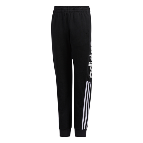 ADIDAS BOY'S CORE LINEAR JOGGER BLACK