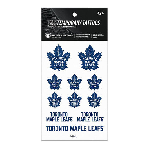 THE SPORTS VAULT TORONTO MAPLE LEAFS TATTOO SHEET
