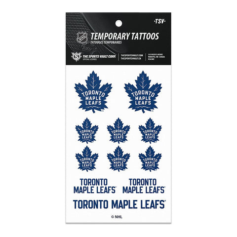 THE SPORTS VAULT TATTOO SHEET LEAFS