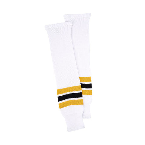 CCM JR TEAM KNIT  HOCKEY SOCK WHITE