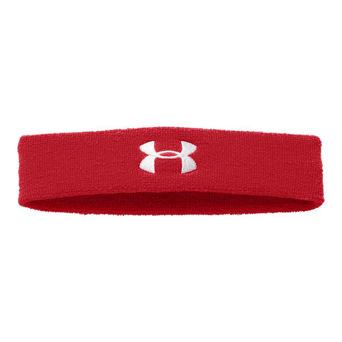 UNDER ARMOUR PERFORMANCE HEADBAND RED/WHITE