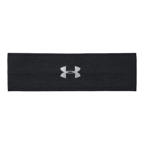 UNDER ARMOUR WOMEN'S PERFECT 2.0 HEADBAND BLACK/METALLIC SILVER