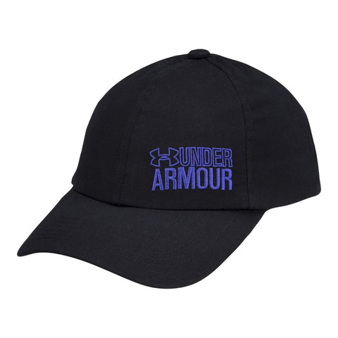 UNDER ARMOUR GIRL'S GRAPHIC ARMOUR ADJUSTABLE CAP BLACK