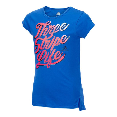 ADIDAS GIRLS' ON MY GAME TEE ADIDAS HIRES BLUE