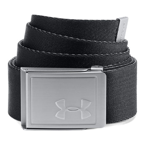 UNDER ARMOUR WEBBING BELT BLACK/GRAPHITE