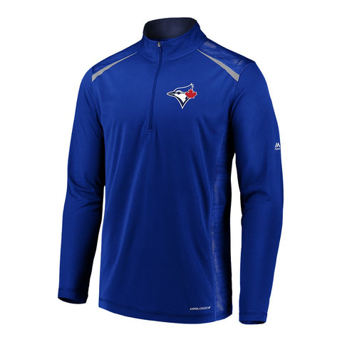 MAJESTIC M PERFECT MOVEMNETS 1/2 ZIP JAYS ROYAL