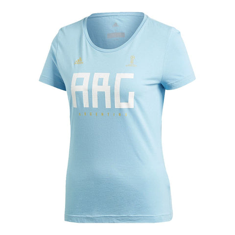 ADIDAS WOMEN'S WORLD CUP 2018 FAN SHORT SLEEVE TOP ARGENTINA