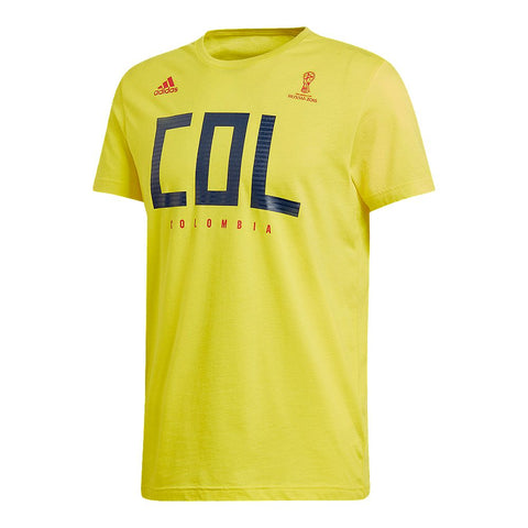 ADIDAS MEN'S WORLD CUP 2018 FAN SHORT SLEEVE TOP COLOMBIA
