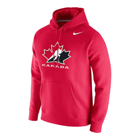 NIKE MEN'S TEAM CANADA STADIUM CLUB HOODY RED