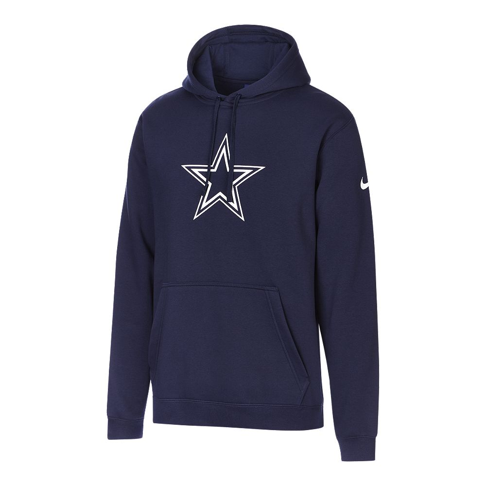 release date 7a22a 72427 NIKE MEN'S DALLAS COWBOYS PULLOVER CLUB FLEECE HOODY