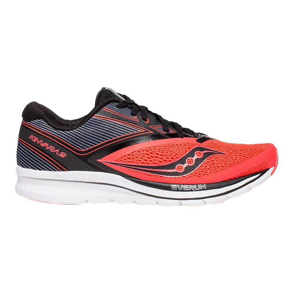 c92249d369 SAUCONY MEN'S EVERUN KINVARA 9 RUNNING SHOE RED/BLACK