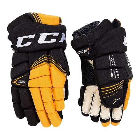 CCM 7092 JR HOCKEY GLOVES BLACK/SUNFLOWER