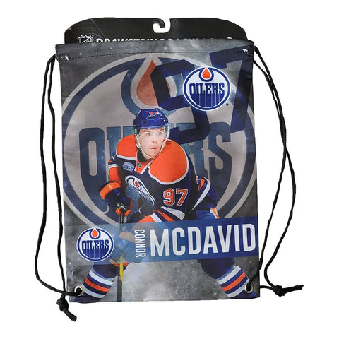 FOREVER COLLECTIBLES EDMONTON OILERS NHL PLAYER DRAWSTRING BAG MCDAVID