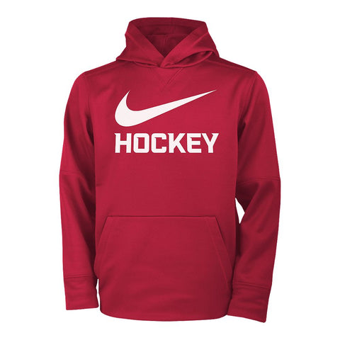 NIKE BOY'S THERMAL PULLOVER HOODY RED