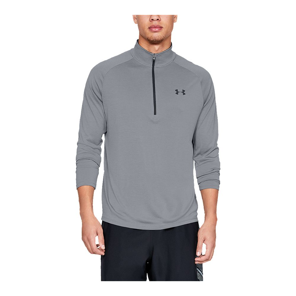 ded1d6093 UNDER ARMOUR MEN'S TECH 1/2 ZIP TOP STEEL LIGHT HEATHER – National ...
