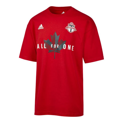 ADIDAS MEN'S TFC JERSEY HOOK TEE RED