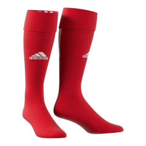 ADIDAS SANTOS 18 RED MEDIUM SOCCER SOCK (7-8.5)