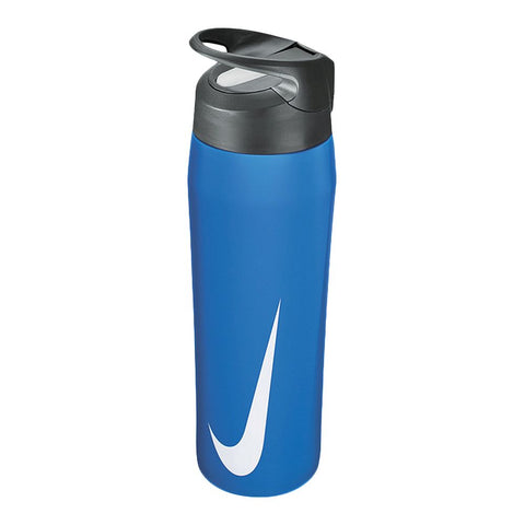 NIKE STAINLESS STEEL HYPER CHARGE STRAW BOTTLE 710ML BLUE