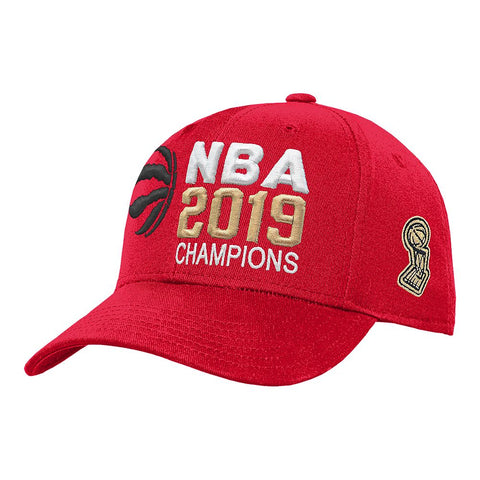 OUTERSTUFF YOUTH TORONTO RAPTORS NBA CHAMPS STRUCTURED ADJUSTABLE CAP RED