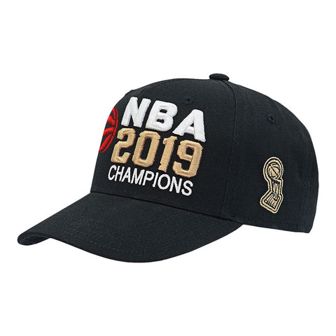 OUTERSTUFF YOUTH TORONTO RAPTORS NBA CHAMPS STRUCTURED ADJUSTABLE CAP BLACK