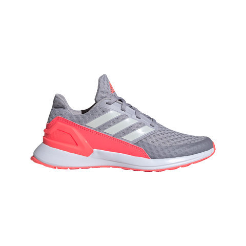 ADIDAS GIRLS GRADE SCHOOL RAPIDA RUN FOUNDATION KIDS SHOE GREY/GREY/PINK