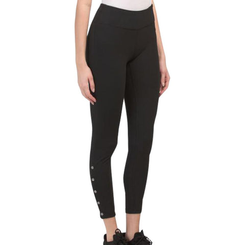 GAIAM WOMEN'S KATYA 7/8 INCH SNAP LEGGING BLACK
