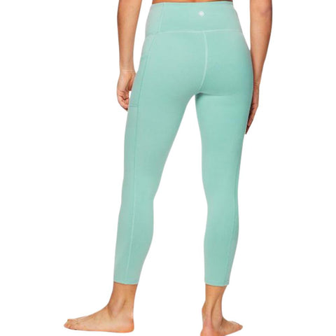 GAIAM WOMEN'S OM HIGH RISE RELAX CAPRI SAGE GREEN