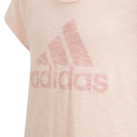ADIDAS GIRL'S MUST HAVES ESSENTIALS TEE HAZE CORAL