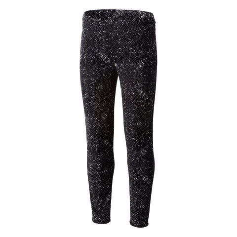 COLUMBIA GIRLS' GLACIAL LEGGING II PRINT BLACK SNOWFLAKE