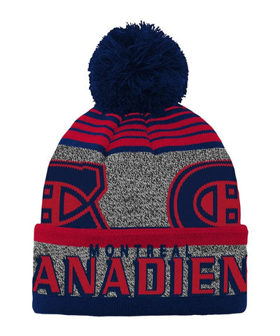 OUTERSTUFF YOUTH MONTREAL CANADIENS ALLOVER JACUARD PRINT KNIT POM HAT