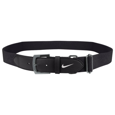 NIKE YOUTH BLACK BASEBALL BELT 2.0 20 INCH - 34 INCH