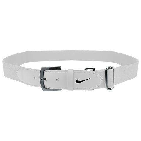 NIKE YOUTH WHITE BASEBALL BELT 2.0 20 INCH - 34 INCH