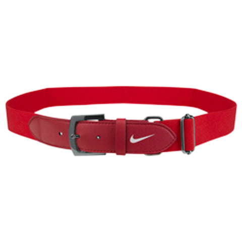 NIKE YOUTH TEAM RED BASEBALL BELT 2.0 20 INCH - 34 INCH