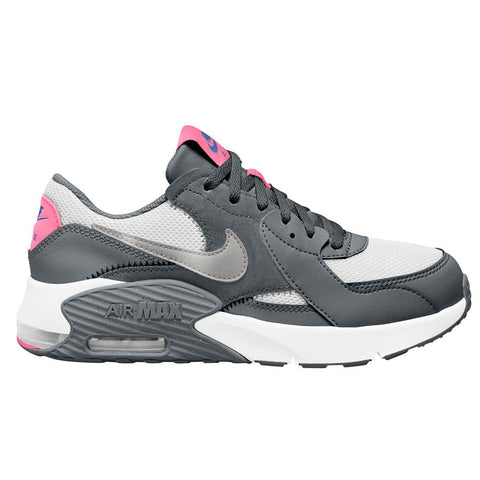 NIKE GIRLS GRADE SCHOOL AIR MAX EXCEE KIDS SHOE SMOKE GREY/METALLIC SILVER/WHITE